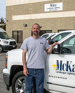 Landscape Lighting Install Crew Leader Omaha Nebraska | McKay Landscape Lighting