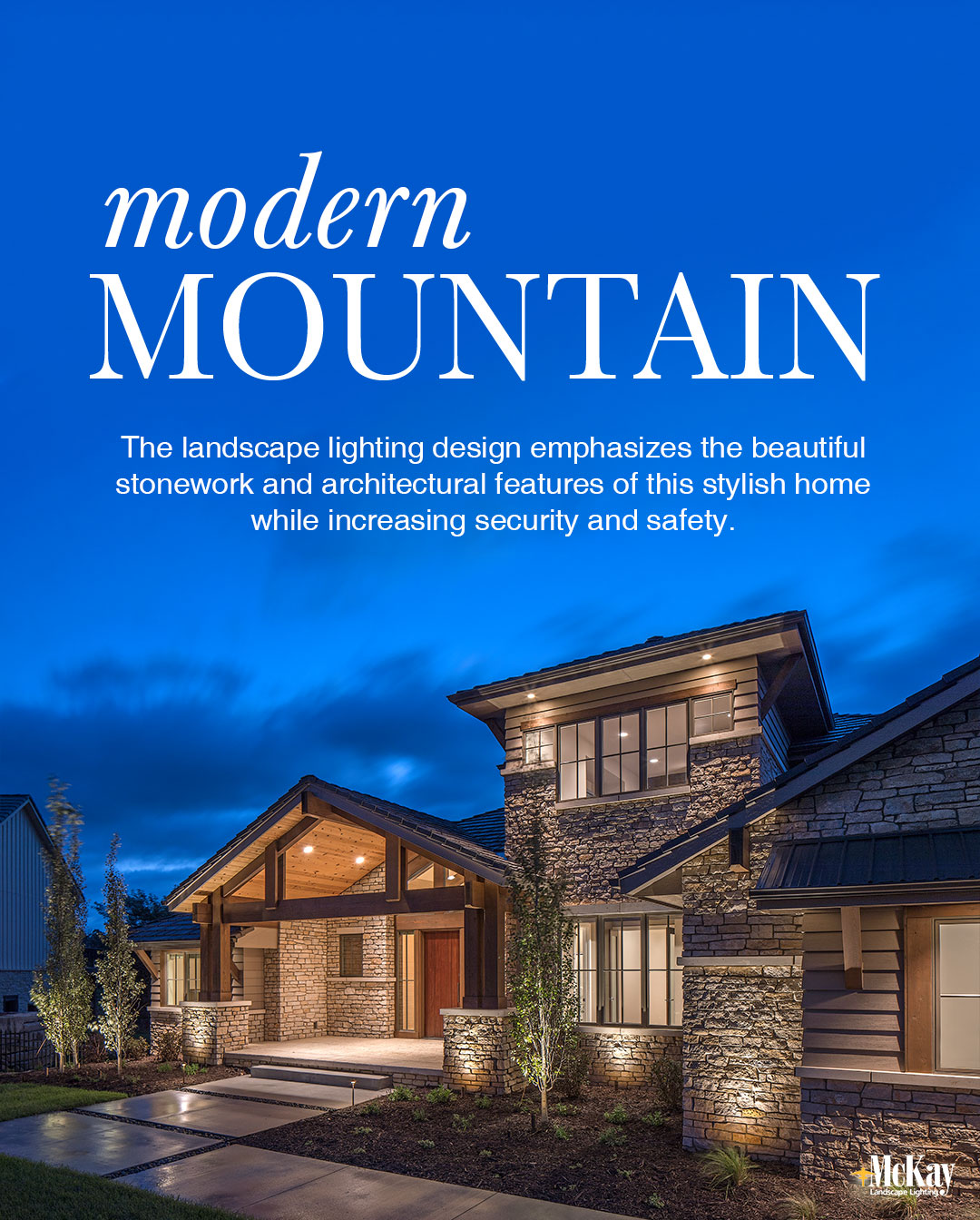 Landscape Lighting Omaha: Landscape Lighting Design: Modern Mountain Home