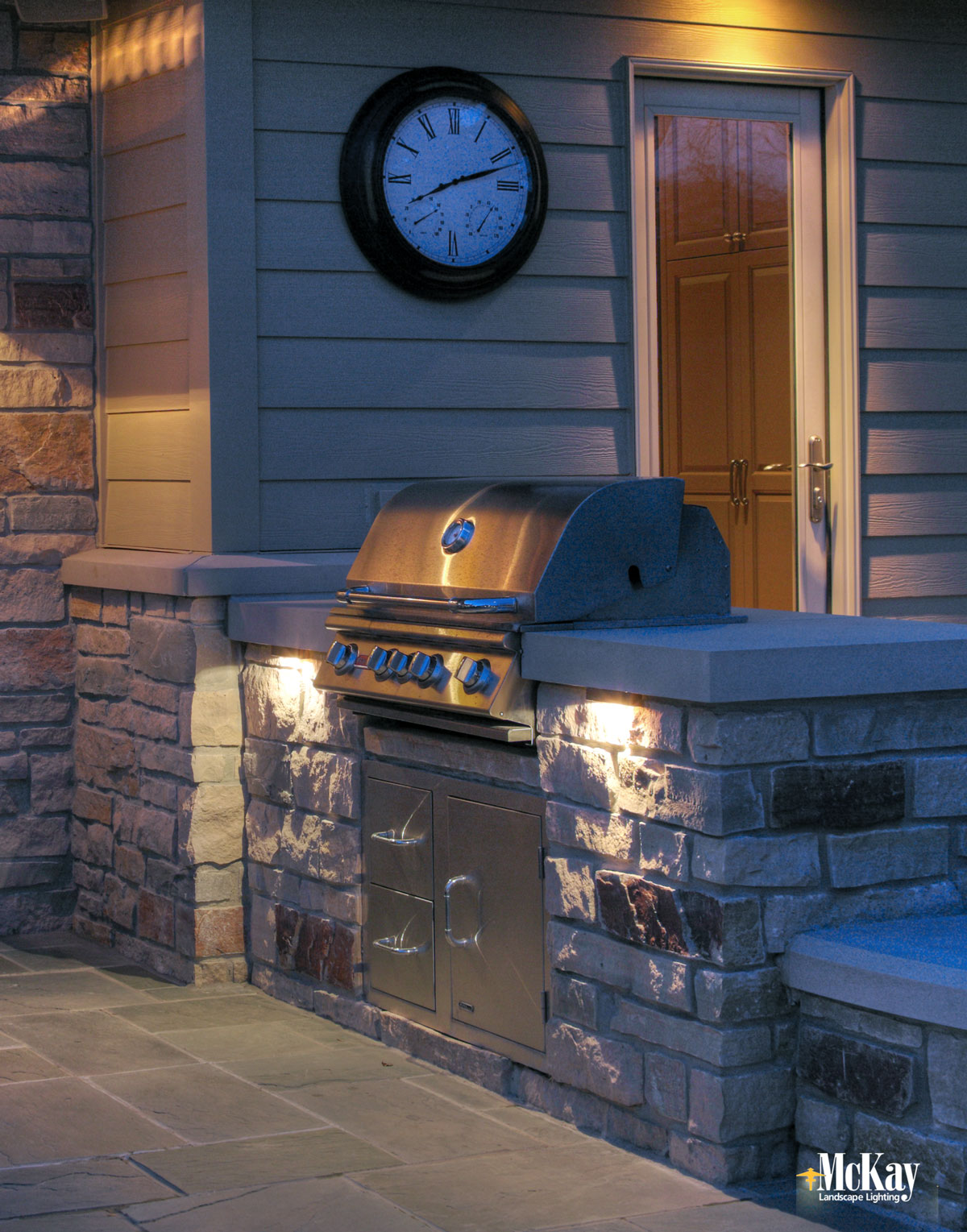 Outdoor Grill Lighting Under the Counter Ideas - Click to see more... | McKay Landscape Lighting Omaha Nebraska