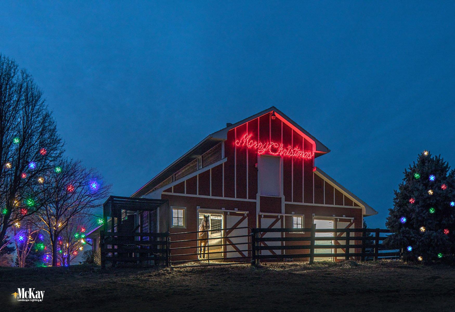 Holiday Christmas Lighting Omaha Nebraska McKay Landscape Lighting F 07-1