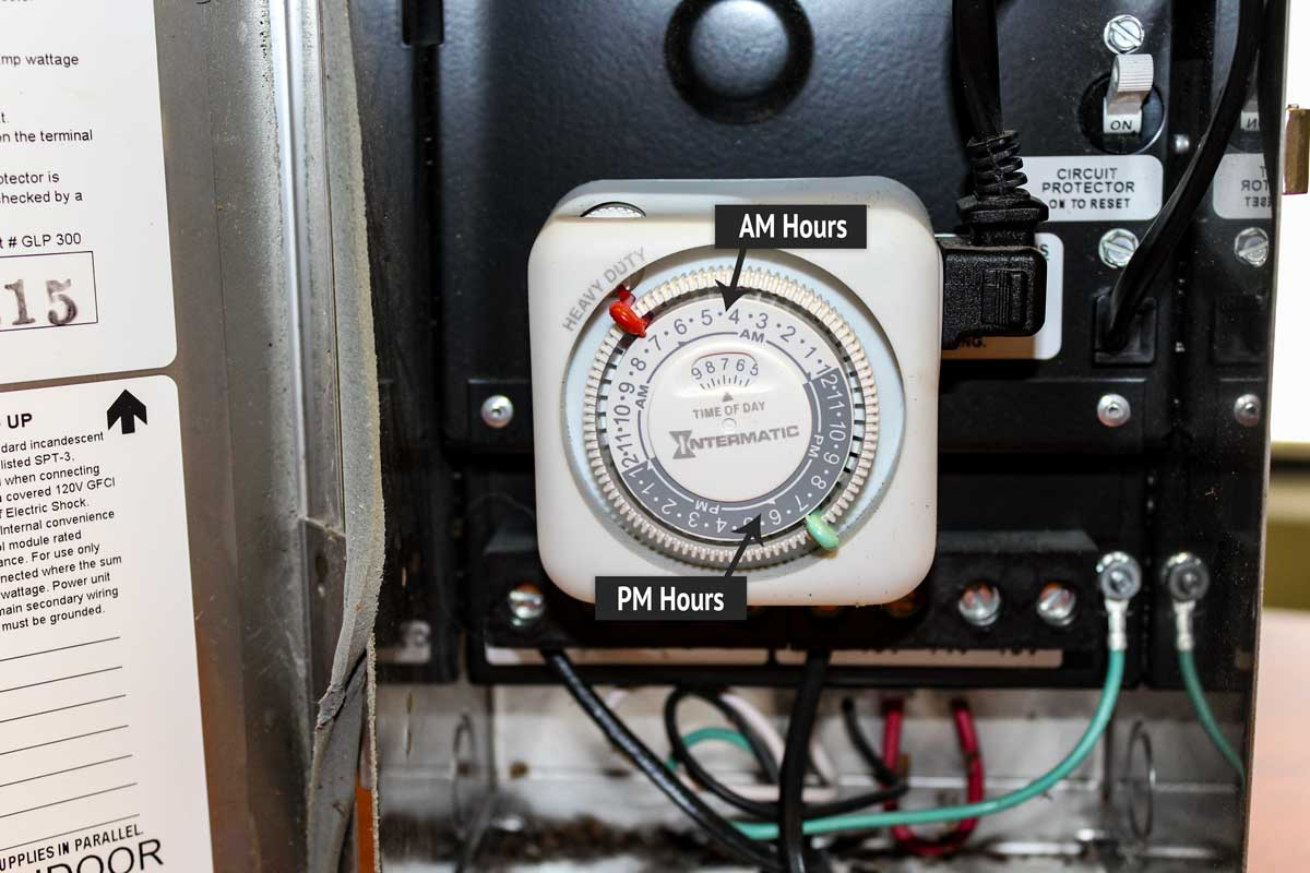 Step 3) Turn the Dial Ahead one Hour - Click to see How to Reset Analog Landscape Lighting Timer for SPRING | McKay Lighting Omaha Nebraska