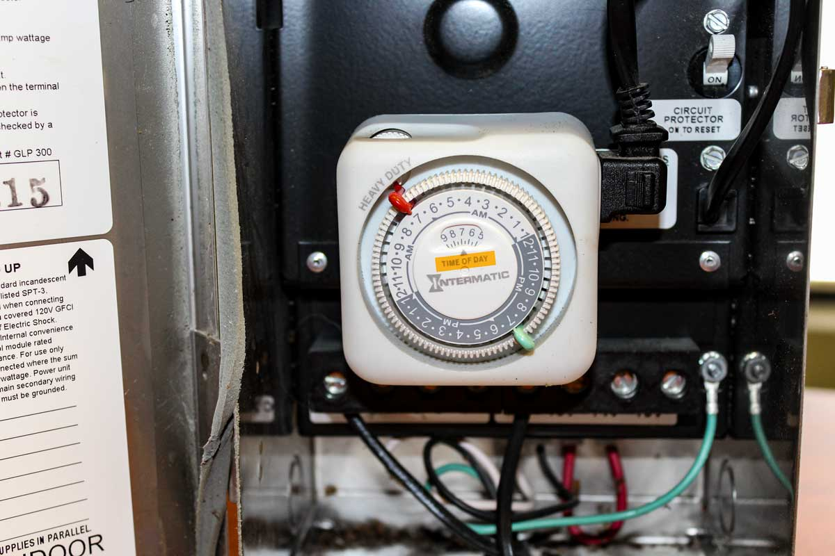 How to Reset Analog Landscape Lighting Timer for SPRING - Click to see the step-by-step directions.... | McKay Lighting Omaha Nebraska IMG_0510