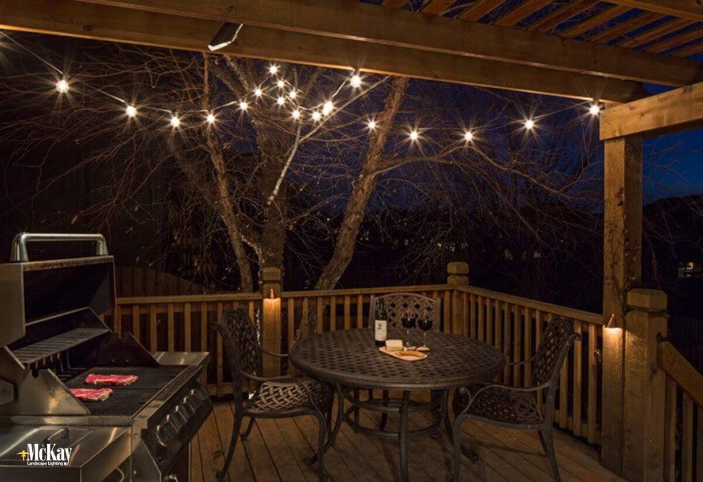 Deck Lighting Ideas Part - 30: Deck Bistro String Lights