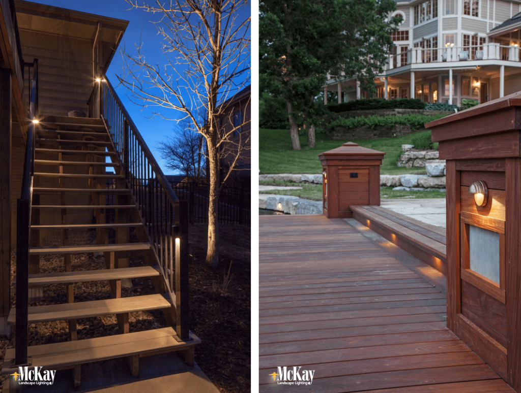 Lighting walkways paths and steps for safety deck stair lighting step lighting mckay landscape lighting audiocablefo
