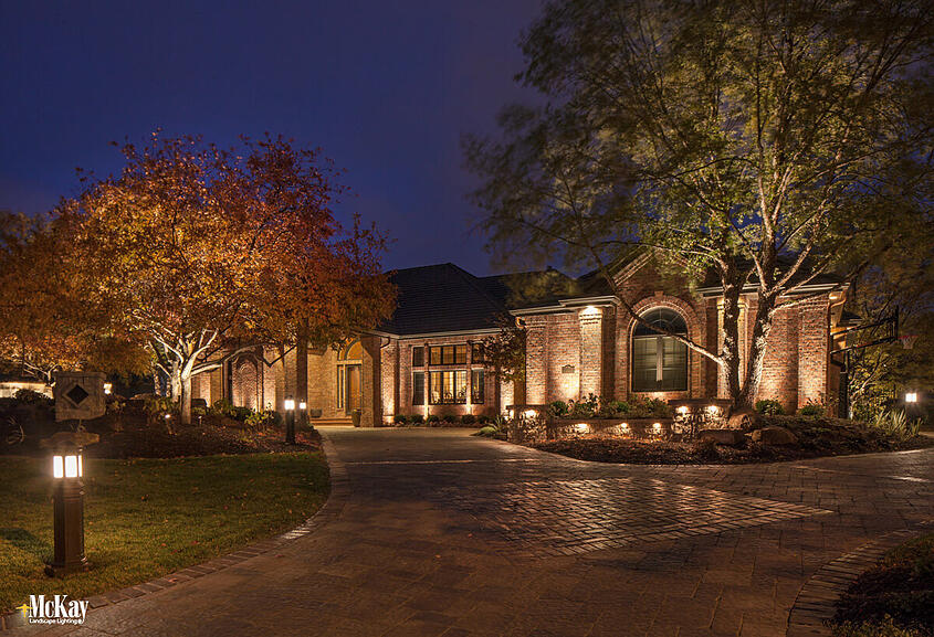 Elegant Outdoor Security Lighting Omaha Nebraska | McKay Landscape Lighting