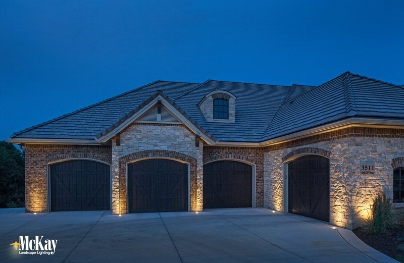 Garage Lighting to Showcase Your Home's Best Architectural Features | Omaha, Nebraska - McKay Landscape Lighting
