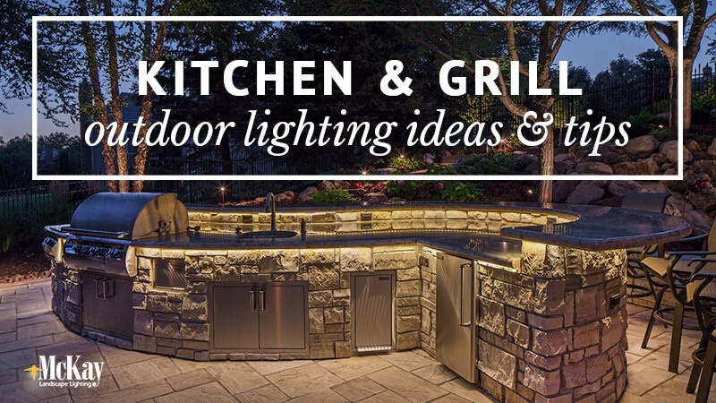 outdoor kitchen grill lighting ideas