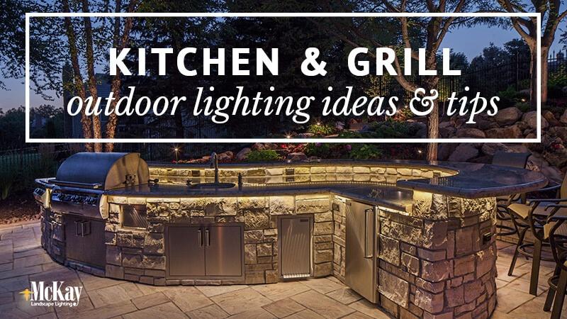 Ordinaire Outdoor Kitchen Grill Lighting Ideas