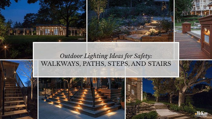 Outdoor Landscape Lighting Walkways, Paths, and Stairs for Safety