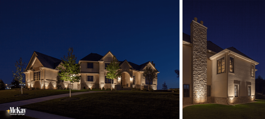 Light dark areas outside of the home to boost security | Residential Outdoor Security Lighting - McKay Landscape Lighting Omaha Nebraska