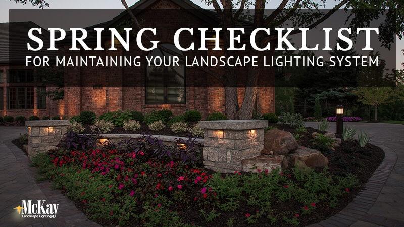 Landscape Lighting Spring Maintenance Checklist