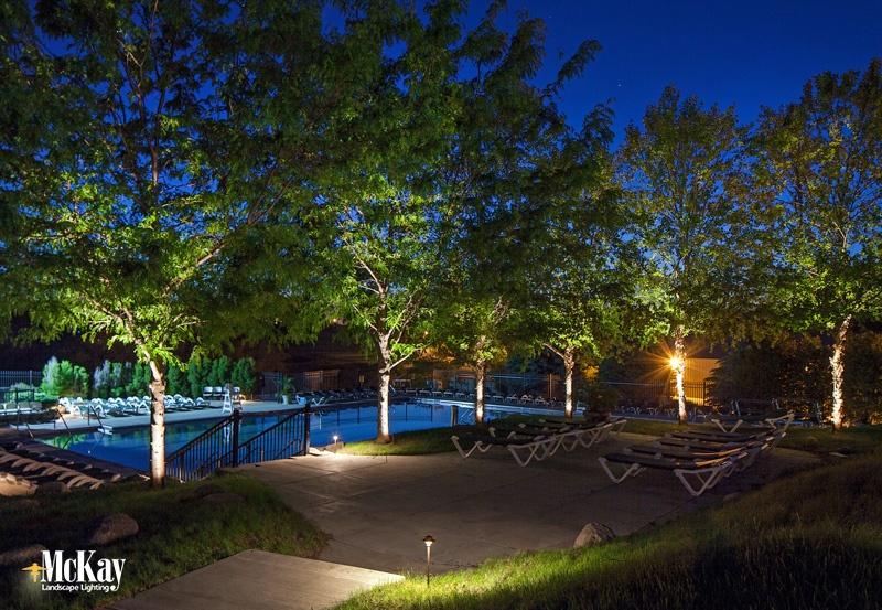Pool Outdoor Lighting Golf Course Pool