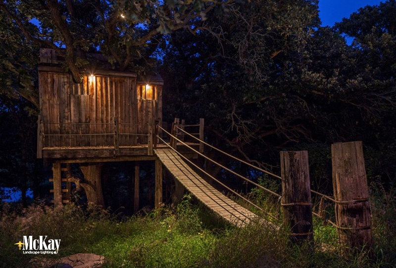Tree House Outdoor Lighting