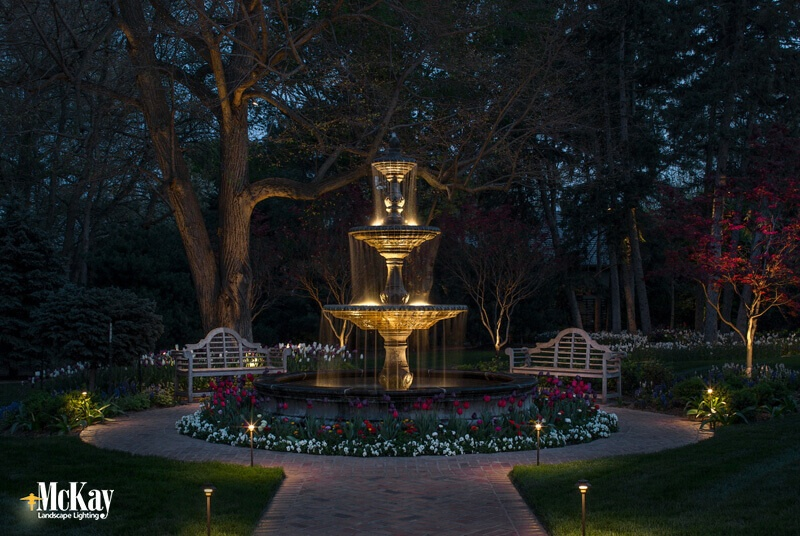 Lighting Water Fountains Omaha Nebraska