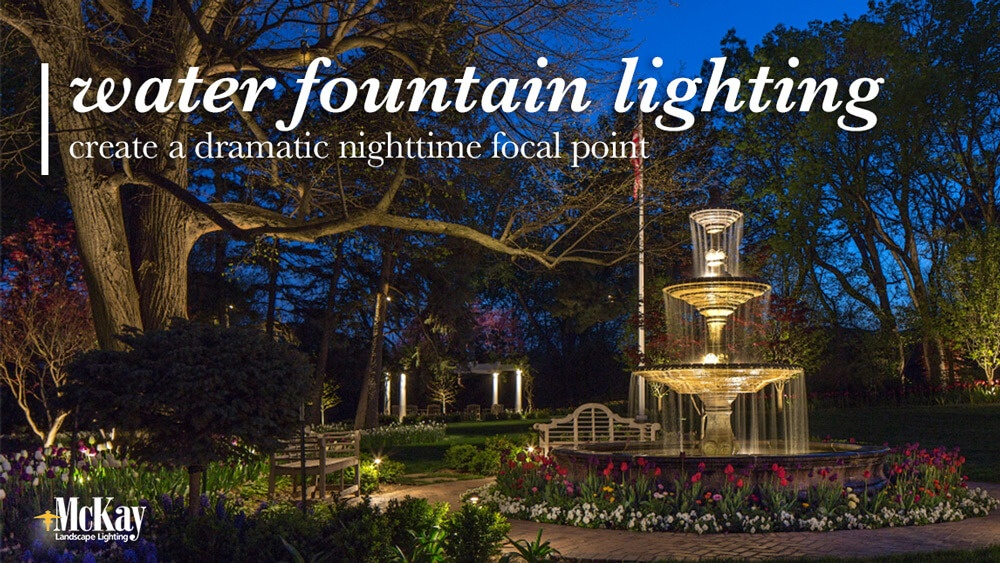 Landscape Lighting for Water Fountains Omaha Nebraska