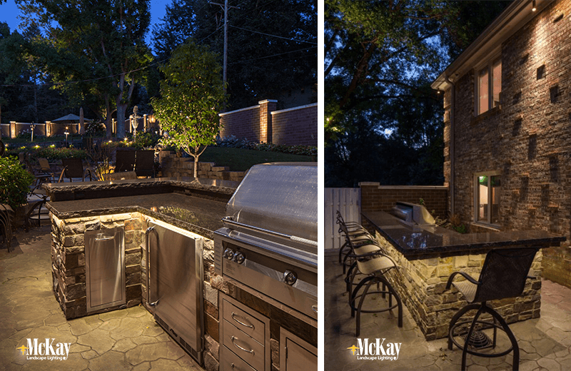 Lighting for outdoor kitchen outdoor designs outdoor kitchen grill lighting ideas mozeypictures Image collections