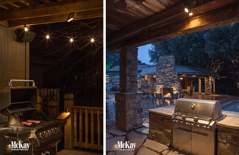 Outdoor lighting grill area outdoor ideas outdoor kitchen grill lighting ideas mozeypictures Image collections