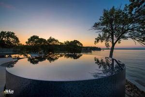 Infinity Hot Tub Monkey Island Oklahoma  McKay Landscape Lighting 13