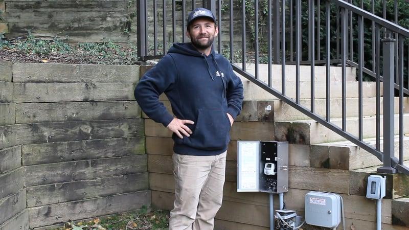 Landscape Lighting Installer - Nick at McKay Lighting Omaha Nebraska