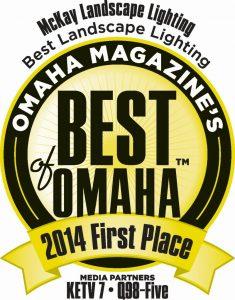 Thank you Omaha! Omaha Magazine's Best of Omaha 2014 in Landscape Lighting.