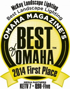Thank you Omaha! Omaha Magazine's Best of Omaha 2014 in Landscape Lighting.