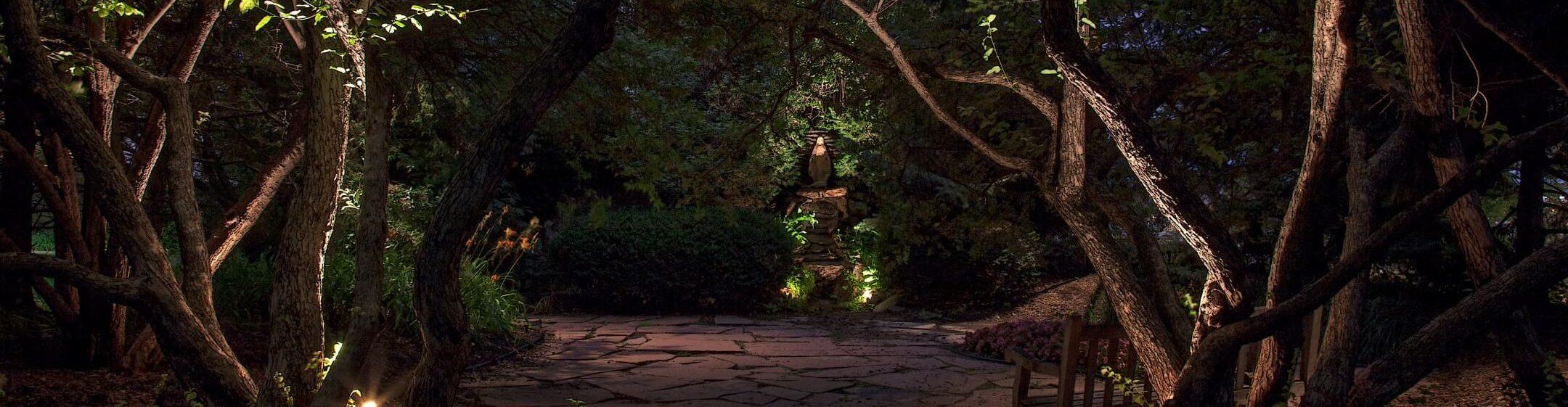 Garden Landscape Lighting Omaha NE