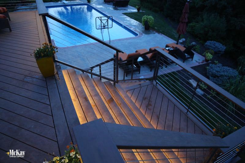 LED Tape Lighting for Deck Stairs and Railings