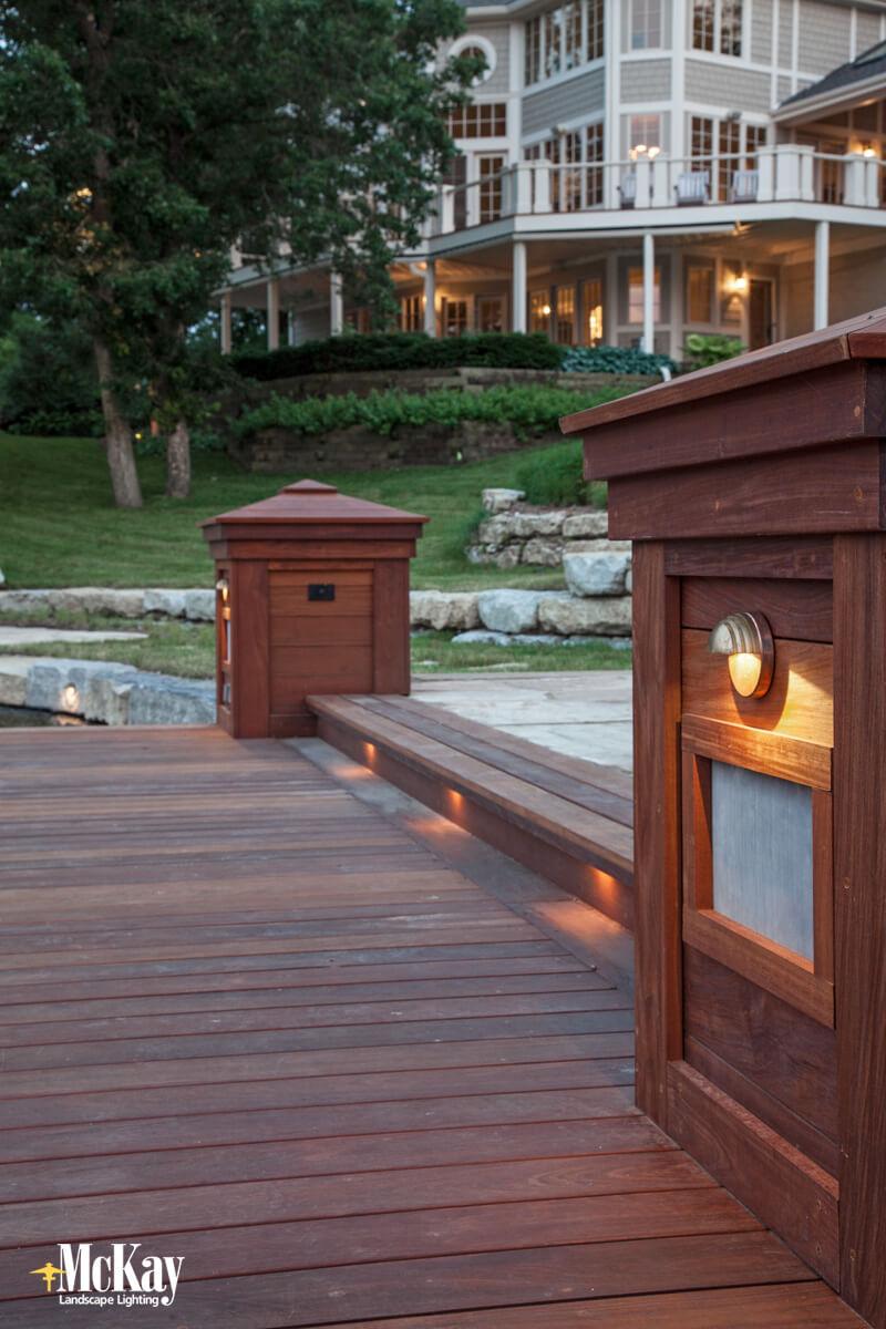 Residential Dock Lighting Omaha Nebraska - McKay Landscape Lighting