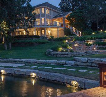 Lake Home Outdoor Lighting Nebraska