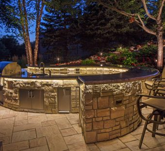 Custom Landscape Lighting Photo Ideas Omaha Nebraska