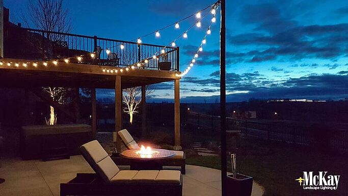 Looking for something subtle, yet festive this Independence Day? Outdoor string lights are perfect for outdoor dining, entertaining, and gather areas because of their versatility. Read more... | McKay Landscape Lighting Omaha Nebraska