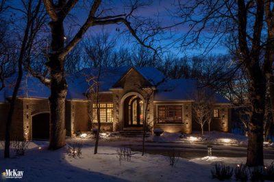 Residential Landscape Lighting Elkhorn Nebraska