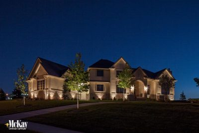 Landscape Lighting Before and After Photos Omaha Nebraska