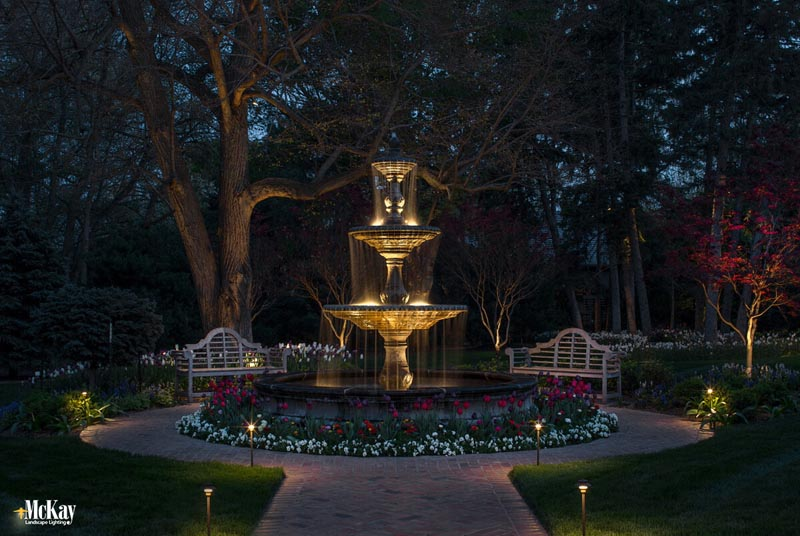 Winterizing your outdoor water fountains water fountain lighting winter maintenance aloadofball Gallery