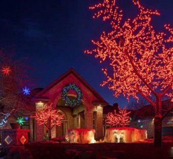Outdoor Holiday Lighting Omaha Nebraska