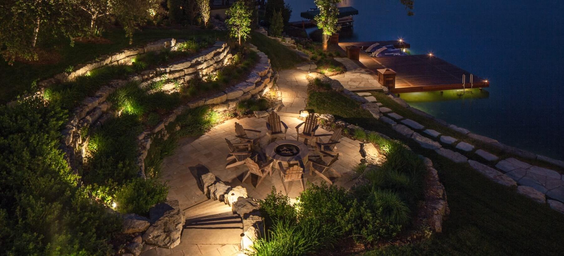 Vacation Home Landscape Lighting