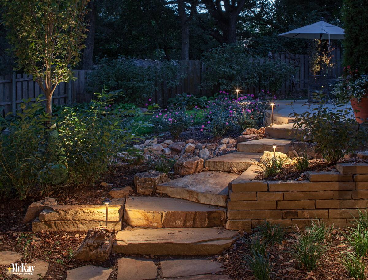 Outdoor Lighting Design Techniques: Path Lighting Omaha Nebraska McKay Landscape Lighting