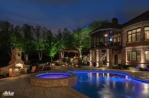 Pool lighting   McKay Landscape Lighting - Omaha Nebraska