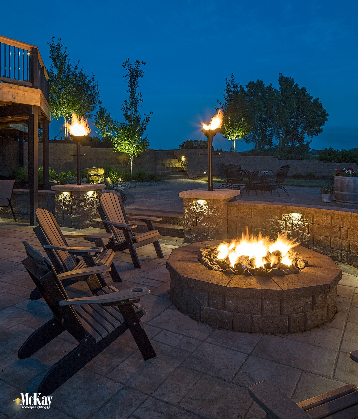 Image of: Outdoor Fire Pit Lighting Ideas And Photos