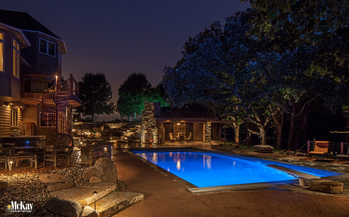 Benefits of Outdoor Landscape Lighting - Extend Use of Outdoor Living Areas. Click to learn more... | McKay Landscape Lighting Omaha Nebraska