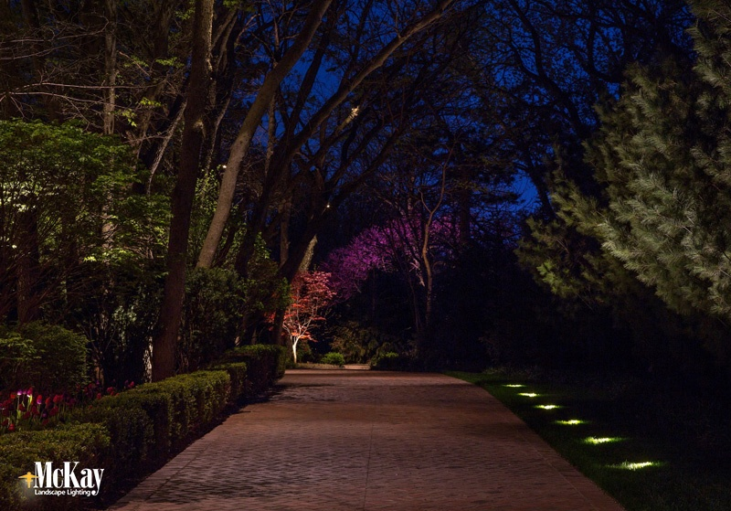 Driveway Lighting Omaha, Nebraska. Click to learn more about this landscape lighting project... | McKay Landscape Lighting - Omaha, Nebraska