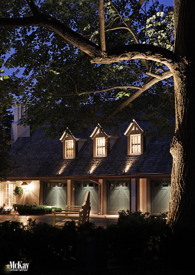 Outdoor Garage Lighting Omaha Nebraska   Increase Garage Security and Curb Appeal by McKay Landscape Lighting
