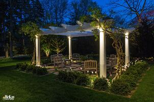 Pergola Lighting Omaha NE McKay Landscape Lighting MB 17