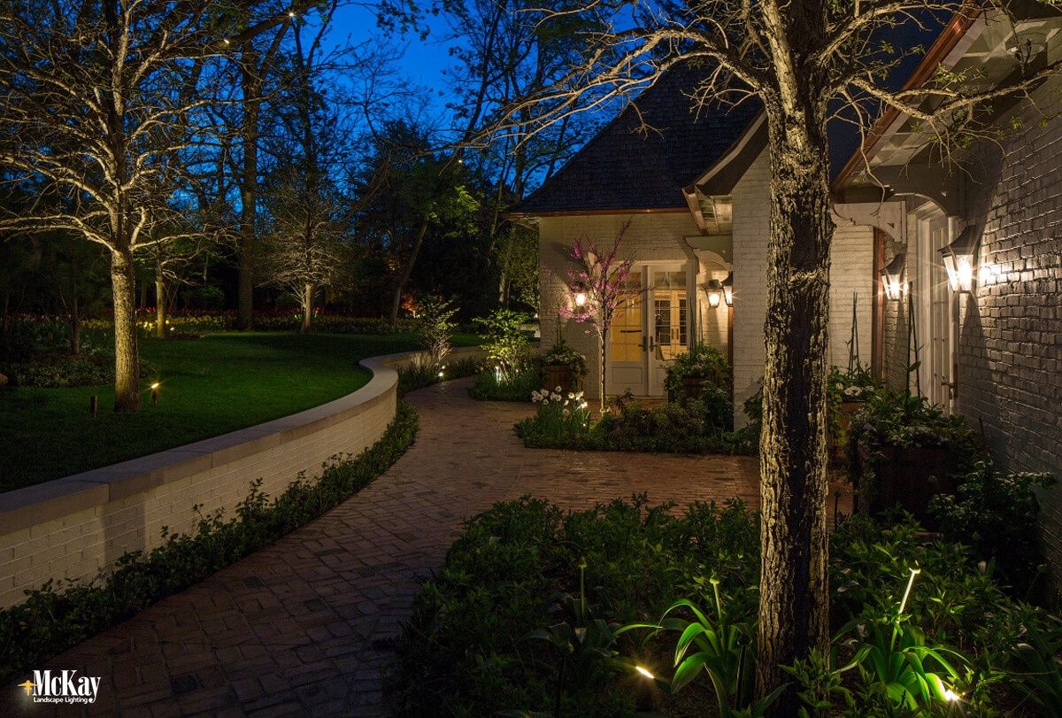 Residential Outdoor Security Lighting Omaha Nebraska - McKay Landscape Lighting