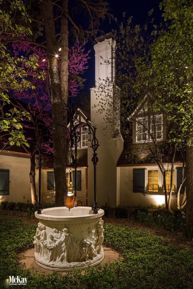 Wishing Well Lighting Omaha Nebraska, learn more about this outdoor lighting design...   McKay Landscape Lighting
