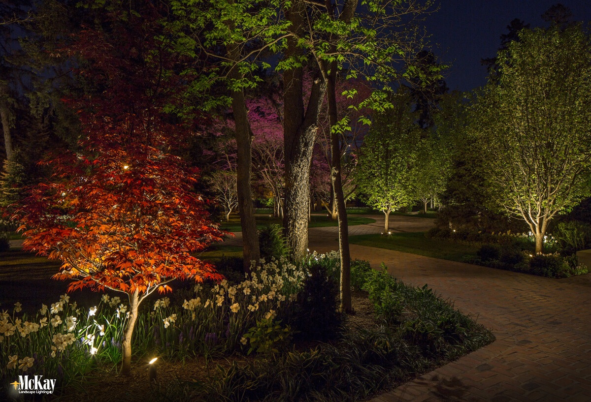 Strategically adding outdoor security lighting each ring adds another level of protection and makes it more difficult for an intruder to get onto your property and access your home unseen. Click to read more... | McKay Landscape Lighting - Omaha, Nebraska