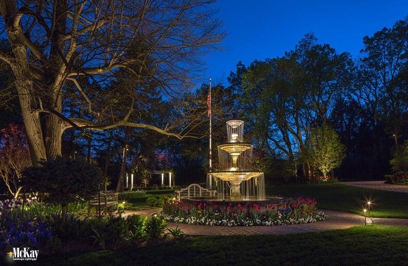 Landscape Lighting for Water Fountains Omaha Nebraska