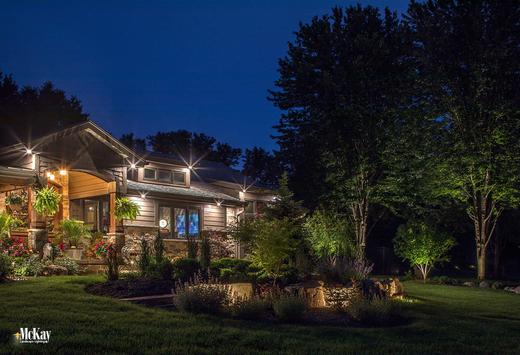 Residential Landscape Lighting Omaha Nebraska McKay Lighting