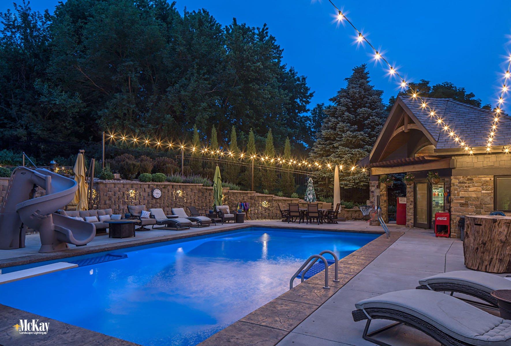 Outdoor Pool Lighting Omaha Nebraska McKay Landscape Lighting B 02