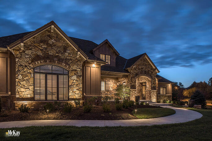 Residential Security Lighting Omaha Nebraska | Learn more about this outdoor security lighting design by McKay Landscape Lighting